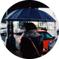 blaues instagram profilbild