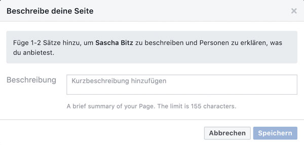 facebook firmenseite erstellen beschreibung