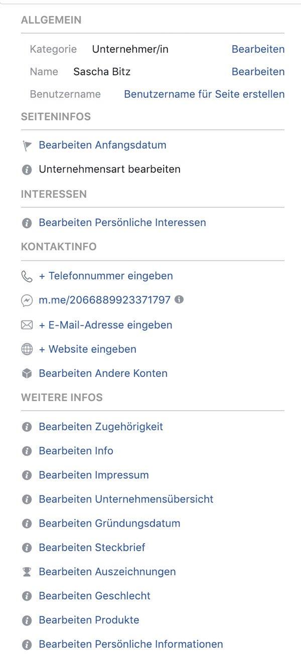 facebook firmenseite erstellen infos
