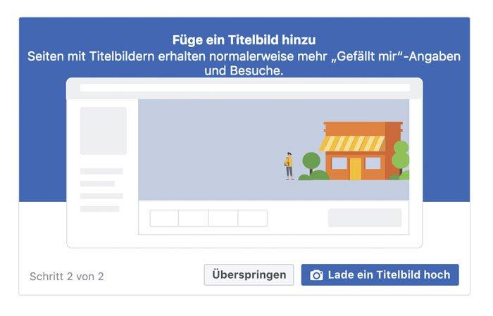 Facebook FIrmenseite erstellen Titelbild